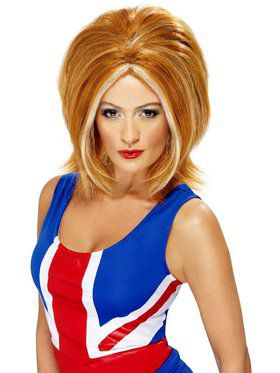 Girl Power Ginger Spice Wig Women's