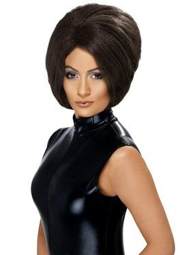Girl Power Posh Spice Brown Wig Women's