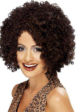 Girl Power Scary Spice Brown Afro Wig Women's