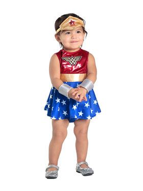 Girl Wonder Woman Dress And Diaper Cover Costume Toddler