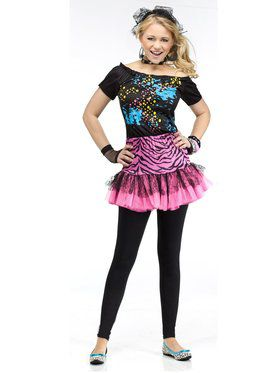 Girl's 80's Pop Party Kids' Costume