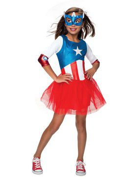 Child Metallic Dress American Dream Costume