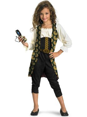 Girl's Angelica Pirates of the Caribbean Costume