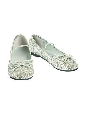 Silver Ballet Slippers