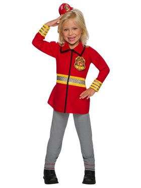 Firefighter Hero Barbie Costume for Girls