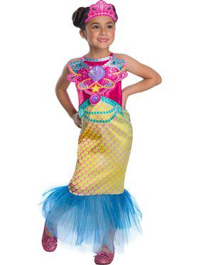 Girls Magical Mermaid Barbie Costume