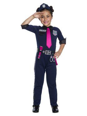 Barbie Police Officer Costume for Girls