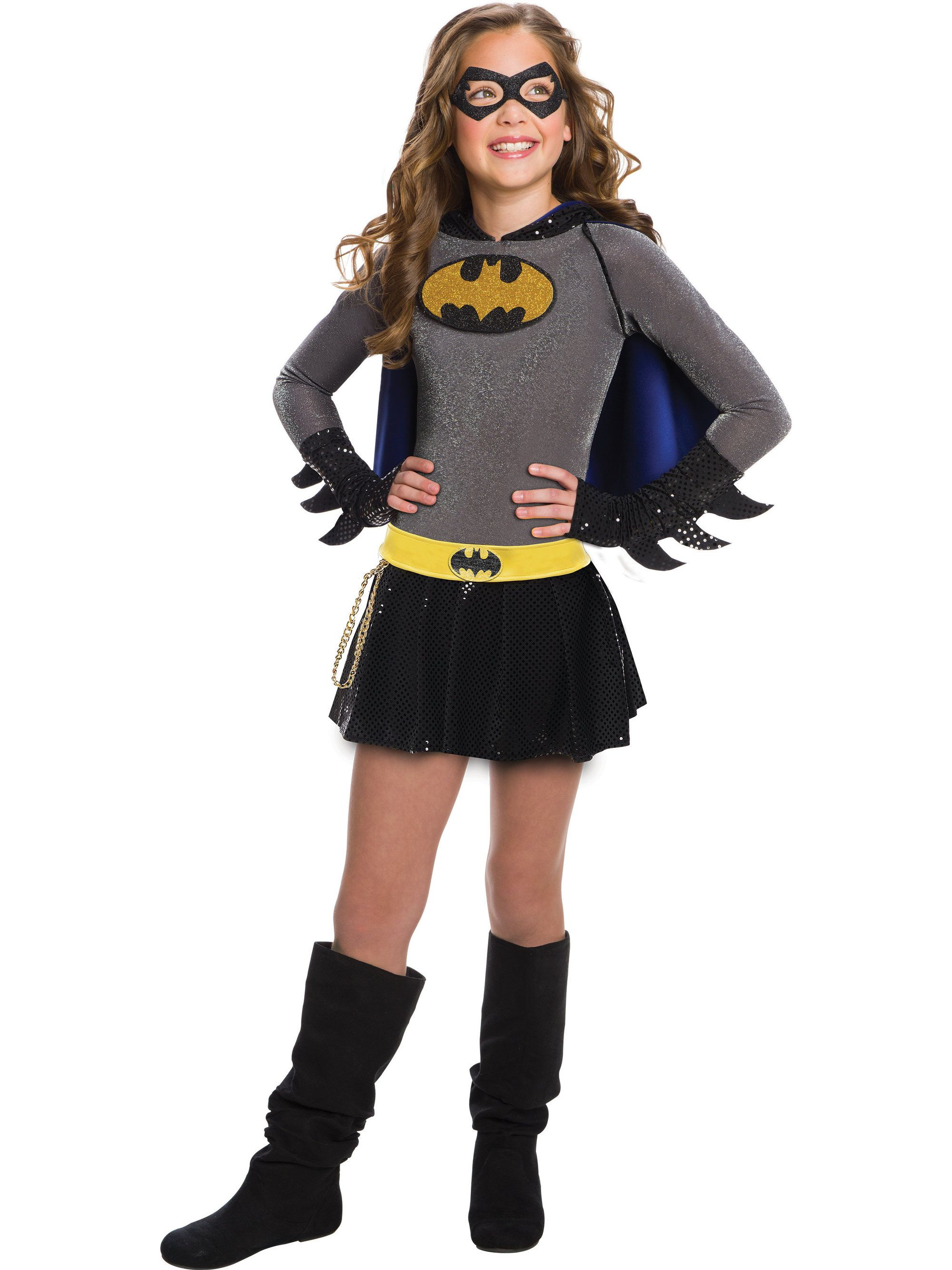 For Halloween our kids Batgirl costume will make your child feel like a true superhero. This girls superhero Halloween costume comes in sizes s-l.