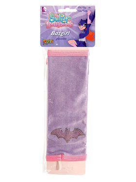 Girl's Batgirl Glovelets with Rhinestone Logo
