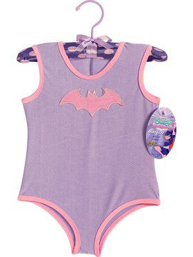 Girl's Batgirl Leotard with Glitter Logo