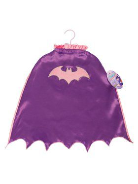 Girl's Batgirl Scalloped Cape with Glitter Logo