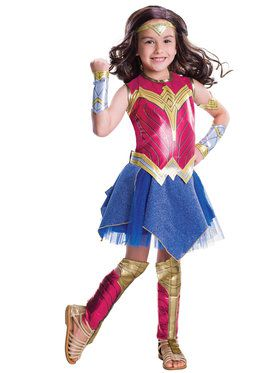 Girls Batman v Superman Deluxe Wonder Woman Costume