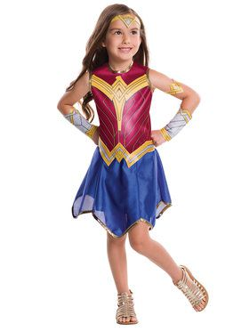 Girl's Batman v Superman Wonder Woman Costume
