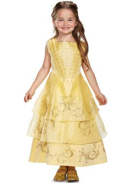 Belle Ball Gown Deluxe Costume For Girls