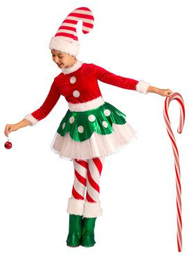 Girls Candy Cane Elf Princess Costume  sc 1 st  Wholesale Halloween Costumes & Christmas Costumes at Low Wholesale Prices | Wholesale Christmas Costume