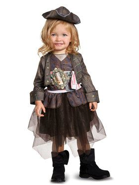 Captain Jack Inspired Tutu Classic Costume For Toddlers