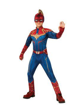Captain Marvel Deluxe Hero Suit Girls Costume