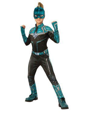 Captain Marvel Deluxe Kree suit Costume for Kids