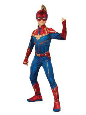 Captain Marvel Hero Suit Girls Costume