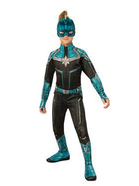 Captain Marvel Kree Suit Girls Costume