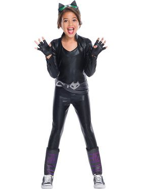Catwoman Deluxe Costume For Girls