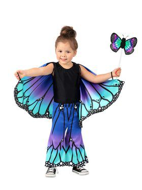 Blue Butterfly Girl's Pants