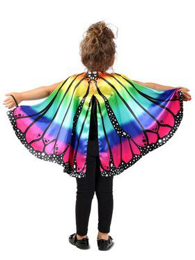 Rainbow Butterfly Child Cape