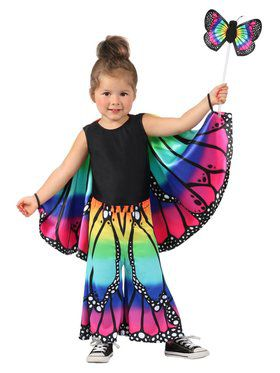 Rainbow Butterfly Girl's Pants