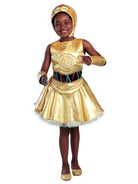 Classic Star Wars C-3PO Girls Dress Costume