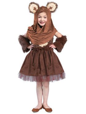 Classic Star Wars Wicket Girls Dress Costume