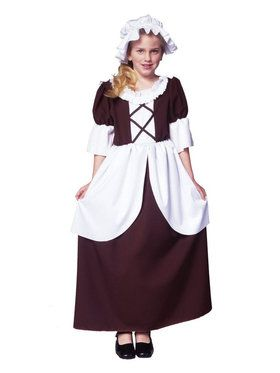 Girl's Colonial / Pilgrim Child Costume