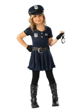 Cutie Cop Costume for Girls