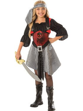 Crimson Pirate Girls Costume