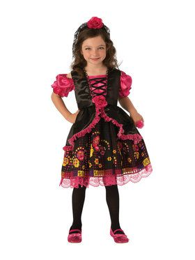 Kids Day Of The Dead Girl Costume