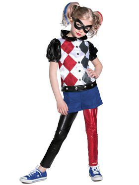 Girls DCSHG Premium Harley Quinn Child Costume