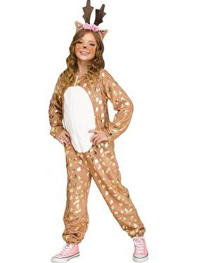 Deer Jumpsuit Girl's Costume