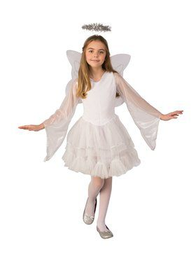 Girls Deluxe Angel Costume