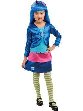 Girls Deluxe Blueberry Muffin Child Costume