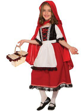 Red Riding Hood Deluxe Girls Costume