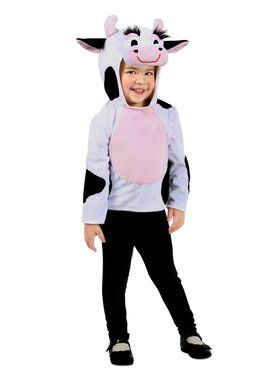 Dylan the Cow Hoodie Girl's Costume