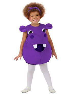 Feed Me Hippo Girl's Costume