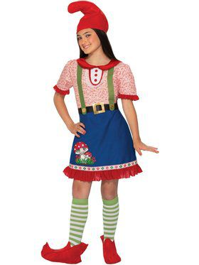 Girls Fern The Gnome Costume