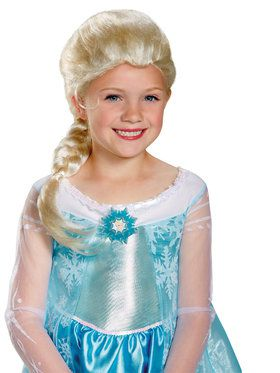 Girl's Frozen Elsa Wig