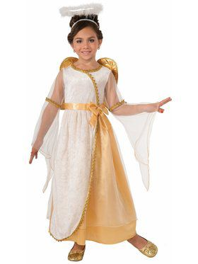 Girl's Golden Angel Child Costume