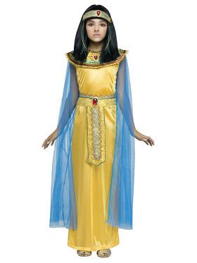 Girls Golden Cleopatra Costume