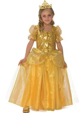 Golden Princess Costume for Girls