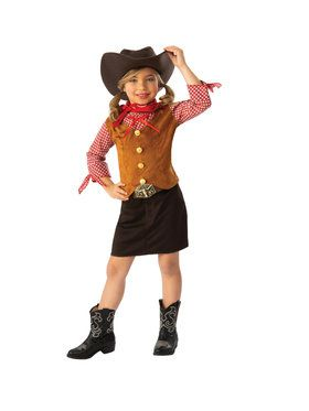 Girls Cutie Cowgirl Costume