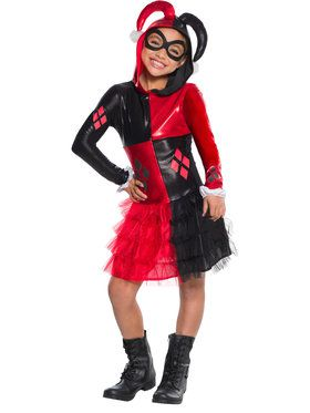 Harley Quinn Hoodie Dress For Children