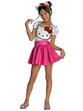 Girl's Hello Kitty Tutu Dress Child Costume