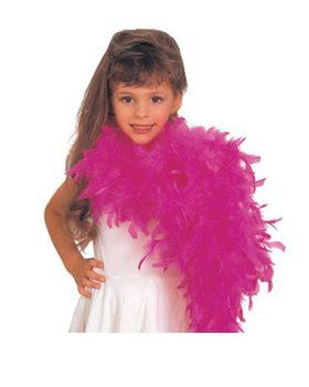 Girl's Hot Pink Feather Boa